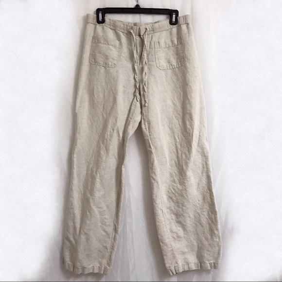 cdc55dc923b8e Liz Claiborne Pants - Liz Claiborne Linen Drawstring Pants
